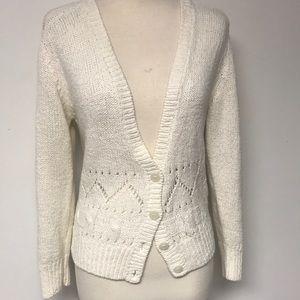 Vintage Winter White Cardigan